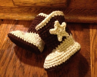 Adorable Crochet Baby Cowboy Boots