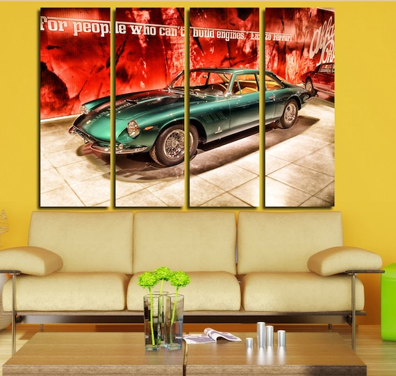 Retro Ferrari Wall Art Multi Panels Set Muscle Car Wall Art
