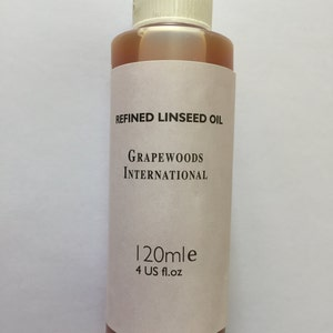 Refined linseed oil (120ml)