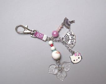 Jewel bag clasp - beads and charms.