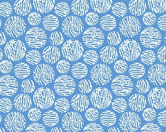Circles on Blue from Andover Fabric's Barbados Collection