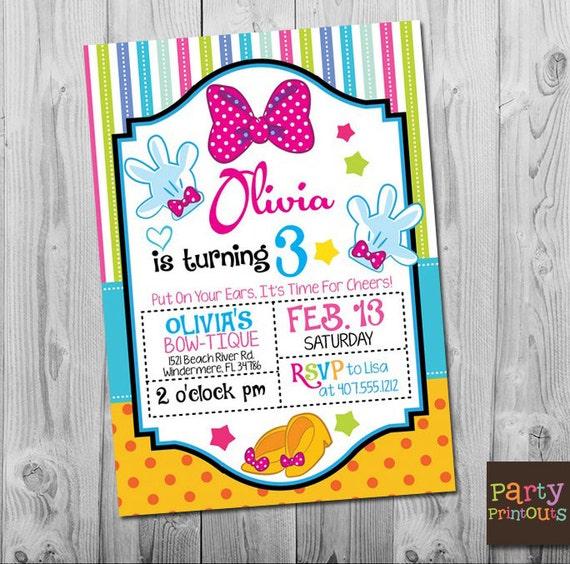 Minnie 3rd birthday invitation printable minnie mouse party like this item filmwisefo