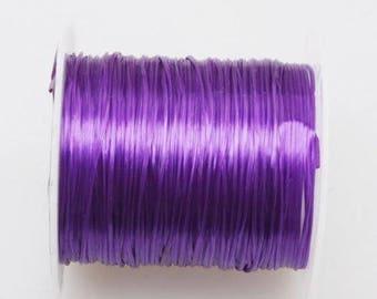 Elastic cord 0.5 MM Violet yarn.