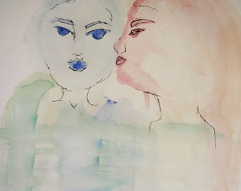 Whisper Watercolor Painting
