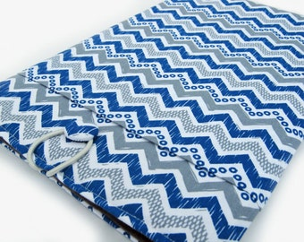 Microsoft Surface Case, Microsoft Surface Cover, Surface RT Sleeve, Surface Pro 3 Case, Surface 2 Case, Blue and Gray Chevron