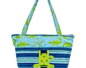 Alligator Diaper Bag, Crocodile Baby, Baby Shower Gift, Alligator Nursery, Gift For Boys, Florida Everglades, Crocodile Purse, Alligator Bag