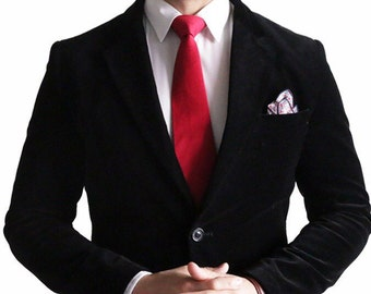 Red Tie /ties for men/gifts for him/business ties/cotton ties/fathers day gifts/wedding ties