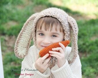 Bunny Hat, Newborn Bunny Hat, Baby Bunny Hat, Child Bunny Hat, Easter Bunny Hat, Beige Bunny Hat, Bunny Bonnet, Photo Prop, Easter Hat