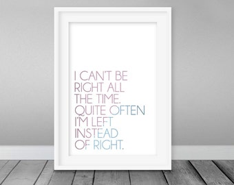 Roald Dahl, The BFG Typography Poster