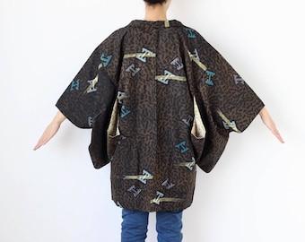 cotton kimono jacket, short kimono, vintage haori, summer kimono, lightweight jacket, womens jacket, cotton kimono, Haori kimono /743