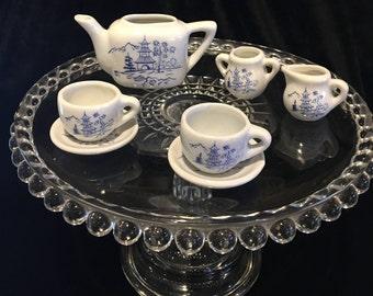 Vintage Doll Tea Set - China - Adorable Tea Set for Tea Parties with Teddy Bears