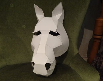 Make your own Horse mask from cardboard, Digital download, DIY mask