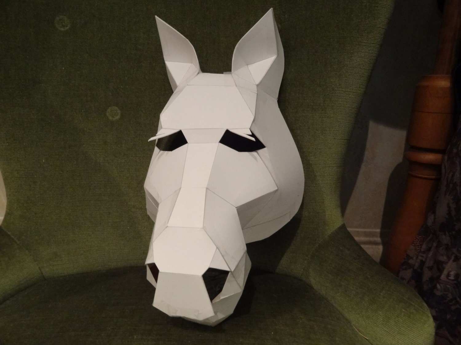 Make your own horse mask from cardboard digital download diy zoom pronofoot35fo Images