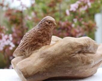 Rustic Bird in Hands, Bird Feeder, Bird Bath, Stone Garden Decoration, Made in Cornwall, Cornwall Stoneware, Outdoor living, Gift idea