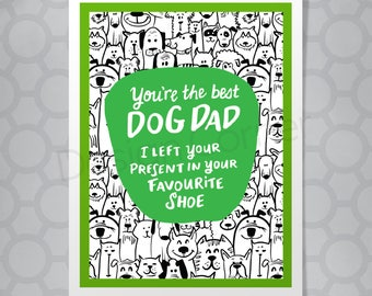 Dog Dad All Occasion Funny Hand Lettered Card
