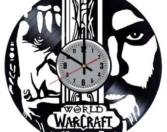 World of Warcraft Vinyl Clock - Video Game Vinyl Record Wall Art Home Kitchen Decor Original Gift Idea  - Vintage Modern Handmade Decoration