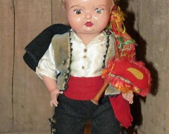 Hard Plastic Scottish Doll - 71