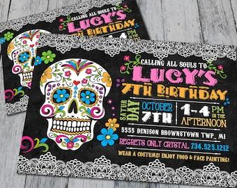 Sugar Skull Birthday Invitation (Digital)