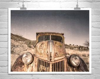 Old Truck Art, Vintage Truck Photo, Farm Trucks, Old Truck Print, Old Truck Pictures, Ford Truck Picture, Ford Gift, Mancave Decor