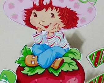Strawberry Shortcake inspired Centerpiece Birthday party centerpiece