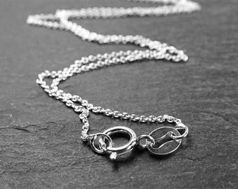 16 Inch Sterling Silver Cable Chain Necklace