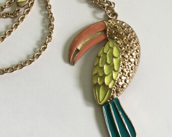 Vintage Toucan on a  long chain