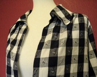 Vintage Checkered Tunic