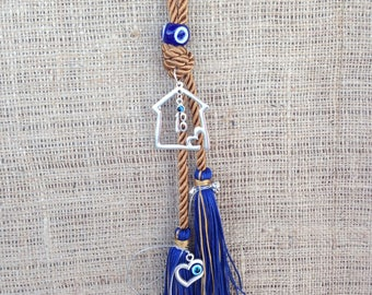 Unique Evil eye Wall Hanging - House Protection & Good Luck - Home decoration - Greek souvenir - Greece - gift - lucky charm