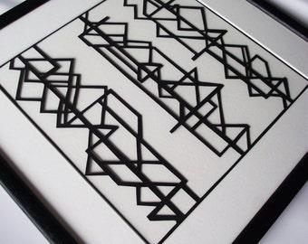 Framed Hand-cut Art Deco Style (1) Papercut