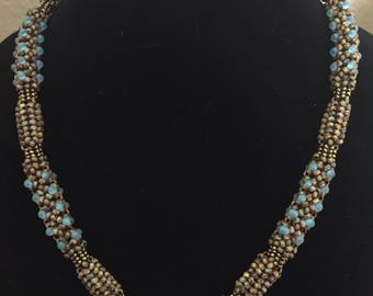 Chenille Stitch Beaded Rope Necklace
