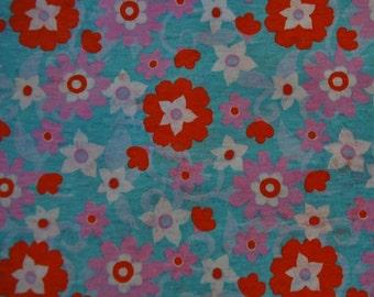 Floral Cotton Knit Fabric
