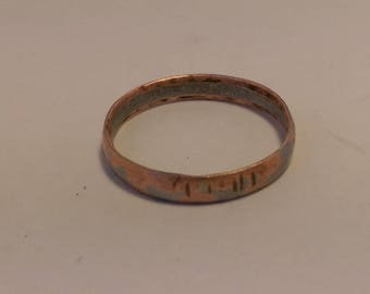 Coin Ring, cold forged