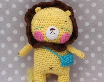 amigurumi lion doll ( Ready to ship)