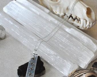 White Dragonfly Pendant Necklace