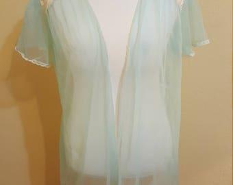 1970s sheer robe size Medium/Large/XL