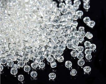 Seed beads transparent 80 gr