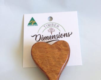 Brooch Silky Oak Handmade with Love