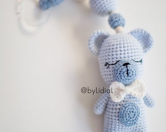 Crochet Stroller Toy Bear Baby Shower Gift