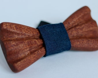 Hand Crafted Wood Bow Tie - Sapele