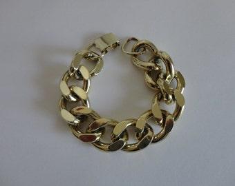 VINTAGE LISNER gold tone chain BRACELET