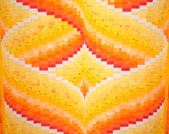 Hearts Aflame Bargello Quilt Pattern