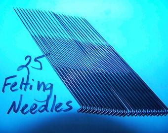 "Star Felting Needles-3 ""-25 of one kind-36 or 38 Gauge"