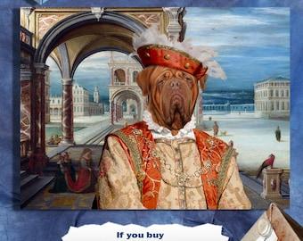 Dogue de Bordeaux - Bordeaux Dogge - Art - CANVAS Print - Fine Artwork - Dog Portrait -  Dog Painting - Dog Art - Dog Print