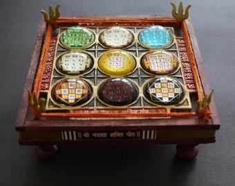 Large Navgrah Chowki (2) | Navgarah Chowki | Indian Astrology | Hindu Astrology | 9 Planets | Enochian magick (2)