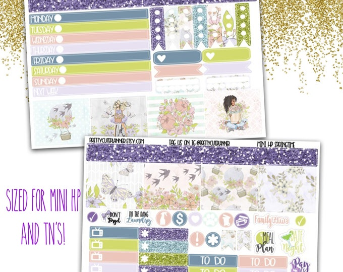 Mini Happy Planner Stickers - Personal Planner Stickers - Travelers Notebook Stickers - BuJo Stickers - Journaling Sticker - Springtime