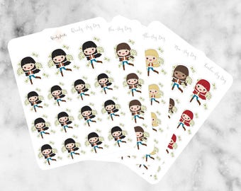 J22 Pay Day Stickers, Character Stickers, Planner Stickers, Planner Girl Stickers, Payday sticker, Money sticker, finance sticker, UK shop