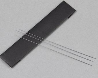 Japanese Loom Weaving Needles, Pack of 3, Long Bead Loom Needles