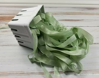 5 yards Sea Moss Green Seam Binding. Packaging, Scrapbooking, Shabby Pretty Embellishment
