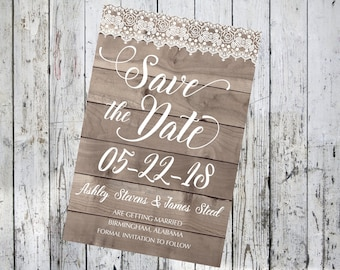 Wood and Lace Save the Date