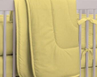 Neutral Baby Crib Bedding / Girl Baby Bedding / Boy Crib Bedding: Solid Banana Crib Comforter by Carousel Designs